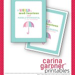 Spring Printable from Carina Gardner {Spring Fever Series}