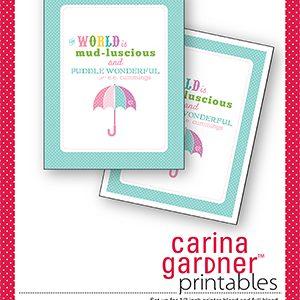 Spring Printable from Carina Gardner {Spring Fever Series}