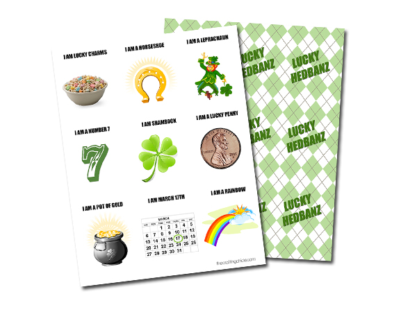 St. Patrick's Day Printable Game - Lucky Headbanz