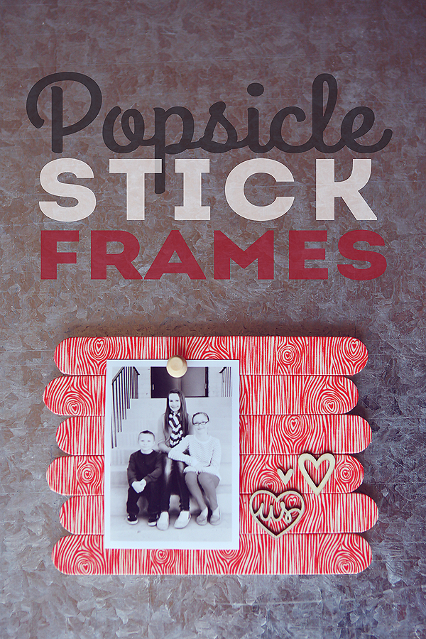 Popsicle Stick Frames from Eighteen25