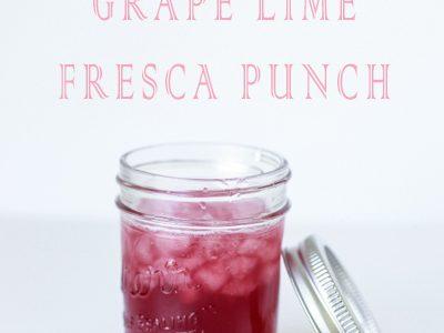 Easiest & Tastiest Grape Lime Punch