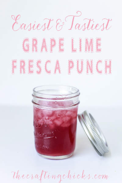 Easiest and Tastiest Grape Lime Fresca Punch