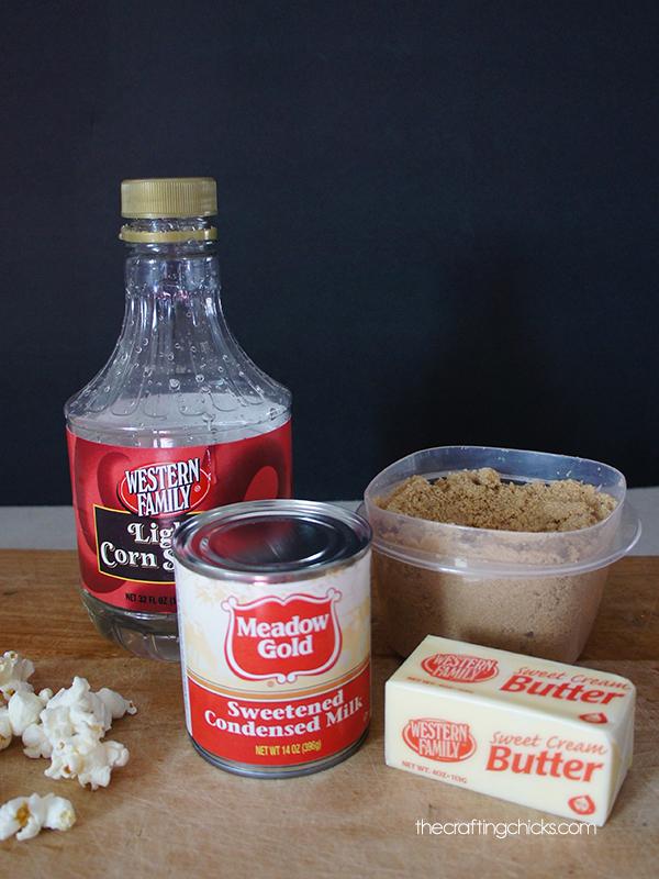 Caramel Corn Ingredients