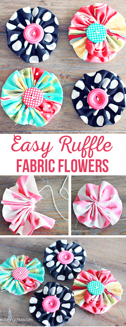 Easy Ruffle Fabric Flowers