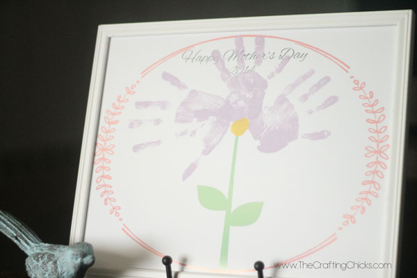 Mother's day gift Handprint flower