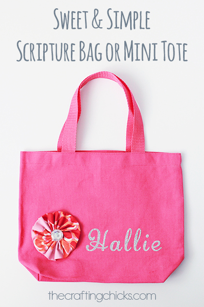 Girl Scripture Bag