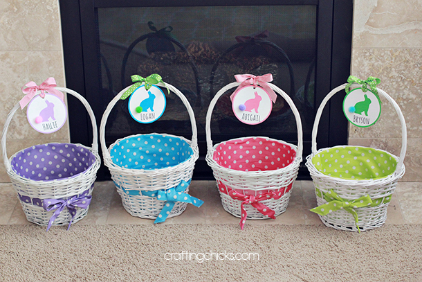 easter basket name tags the crafting chicks