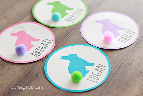easter name tags template - easter basket name tags the crafting chicks