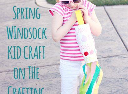 Spring Windsock Kid Craft