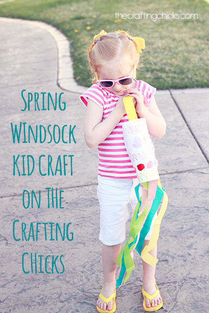 Spring Windsock Kid Craft The Crafting Chicks