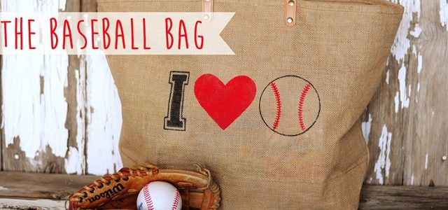 Stenciled Baseball Bag from All Things Thrifty {Spring Fever Series}