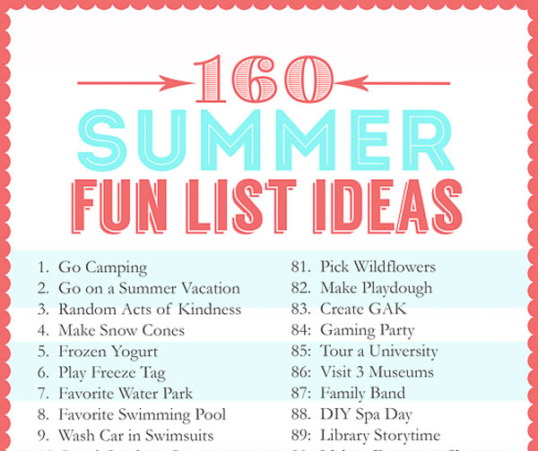 160-Summer-Fun-List