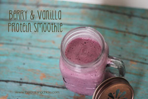 Berry and Vanilla Protein Smoothie