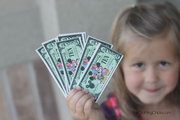 picture regarding Disney Dollars Printable titled Disney Trip Incentives for Little ones: Disney Money - The