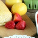 Lemon Pound Cake with Macerated Strawberries