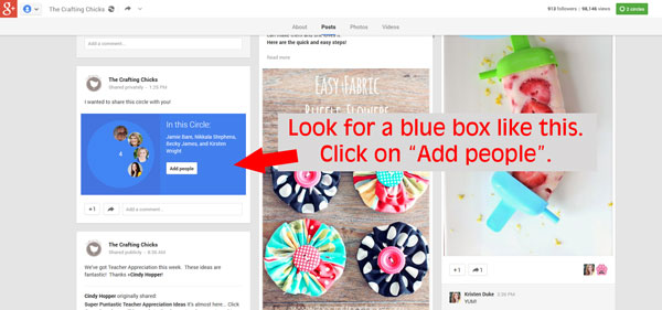 How to create, share and add a circle in Google Plus