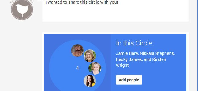 How to create, share and add Google plus circles
