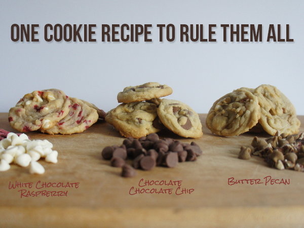 1 Batch of Dough: 3 Types of Cookies