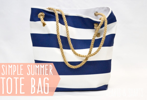 DIY Striped Summer Tote