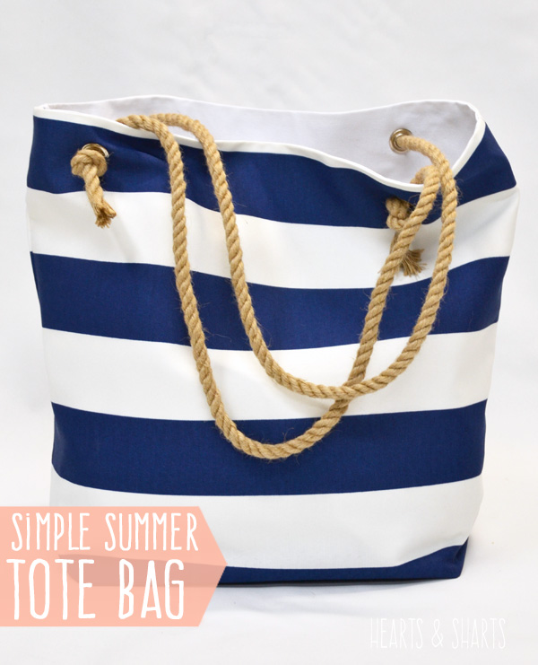 DIY Summer Tote Bag with Rope Handles