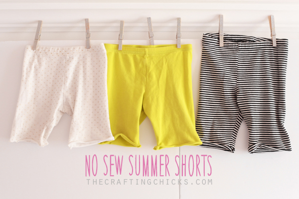 EASIEST No-Sew Summer Shorts from Leggings
