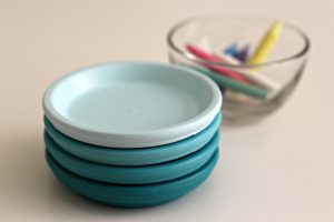 ombre painted coasters 9