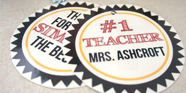 Simply the Best Teacher Tags