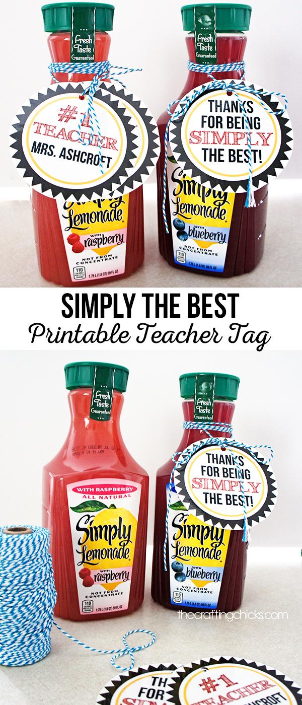 Simply the Best Teacher Tag
