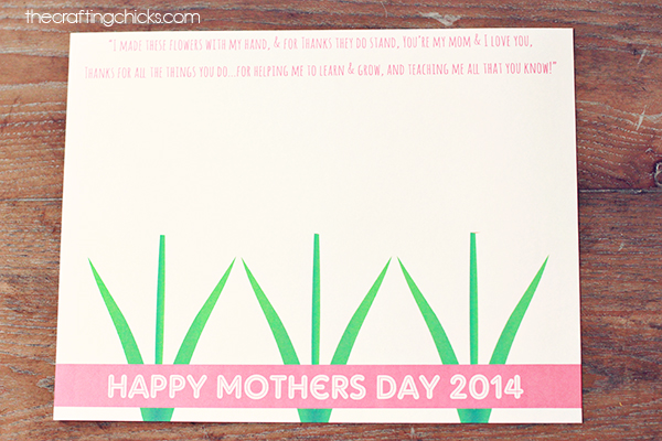 Sweet Mother's Day Handprint Poem