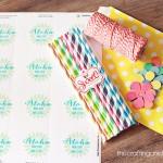 """Aloha…""""Make Your Own Lei"""" Kit *Free Printable Sticker"""