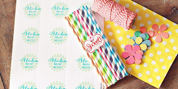 "Aloha…""Make Your Own Lei"" Kit *Free Printable Sticker"