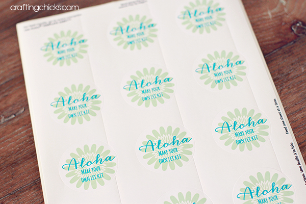 AlohaMake Your Own Lei Kit Free Printable Sticker The - Make your own decal kit