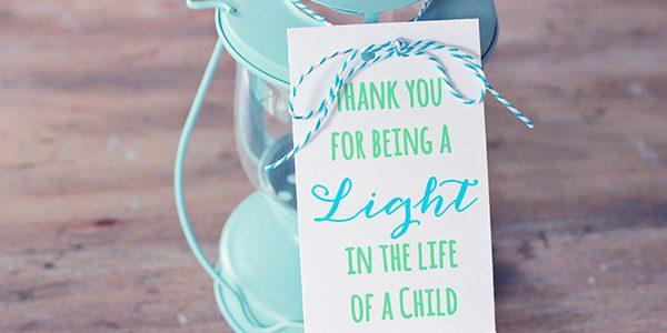 Lantern Teacher Gift Idea *Free Printable