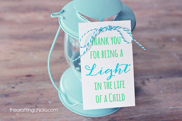 Lantern or Light Teacher Appreciation Gift idea