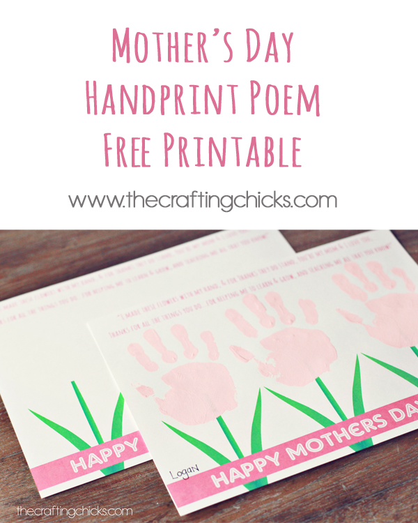 If you're looking for a special Mother's Day gift your group can give mom, this Sweet Mother's Day Handprint Poem is perfect and all you need to do is add handprints!