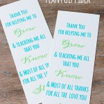 Plant Teacher Gift Idea *Free Printable Poem