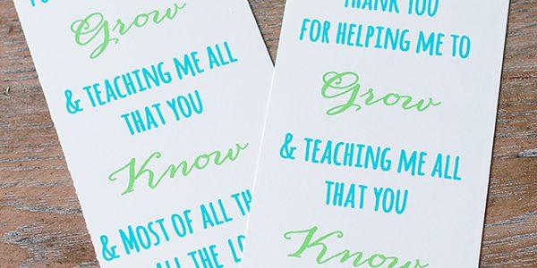Plant Teacher Gift Idea *Free Printable Poem