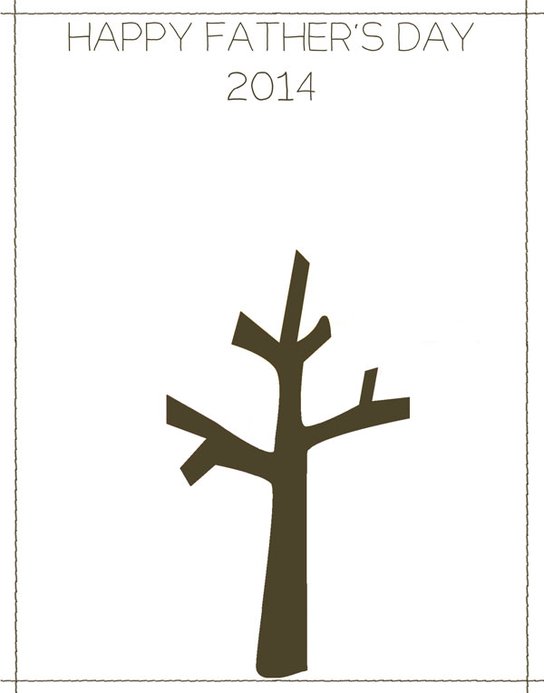 Handprint Tree Template