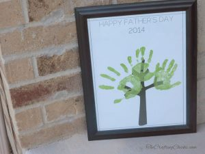 Father's Day Handprint Tree for 2014