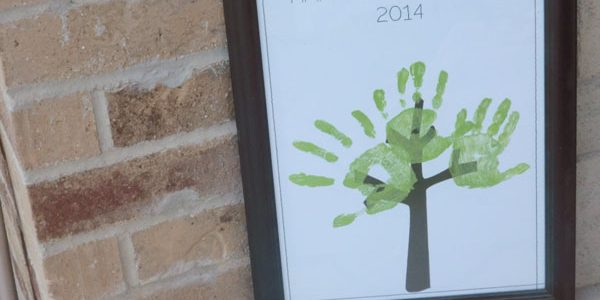 Father's Day Handprint Tree 2014