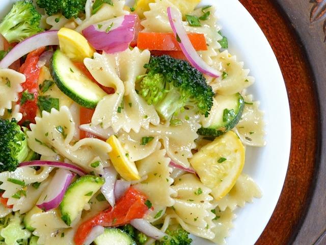 Pasta Salad close