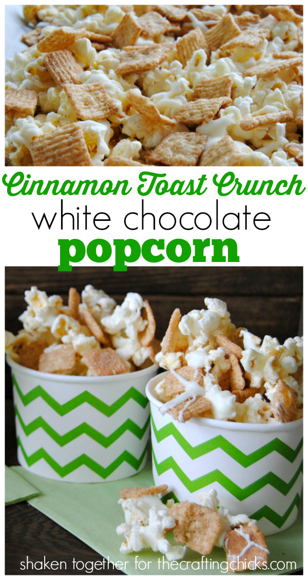 Cinnamon Toast Crunch white chocolate popcorn!