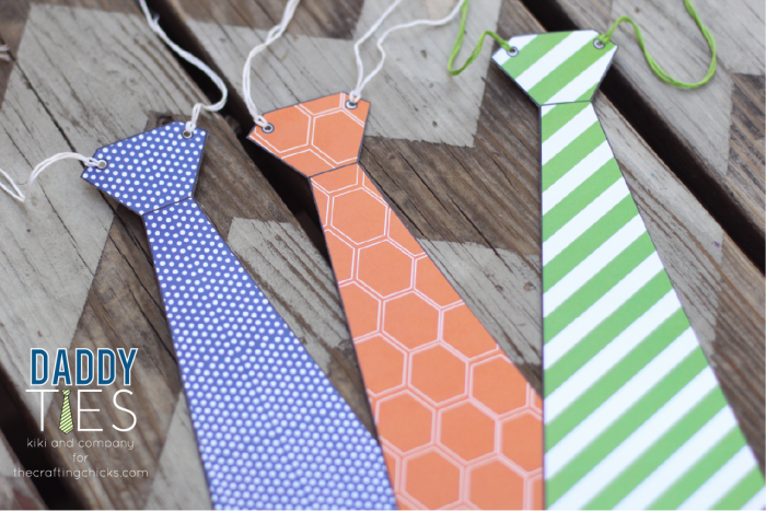 Printable Daddy Ties. 3 colors..perfect for Father's day!