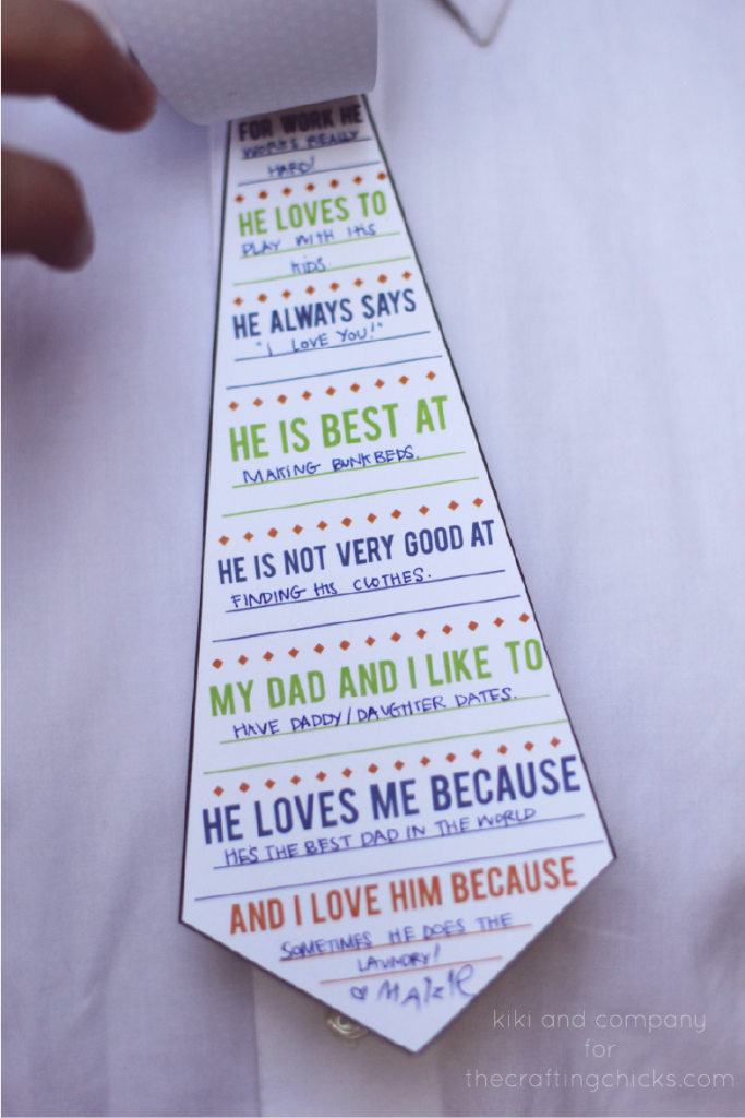 Printable Daddy Ties. Cute!