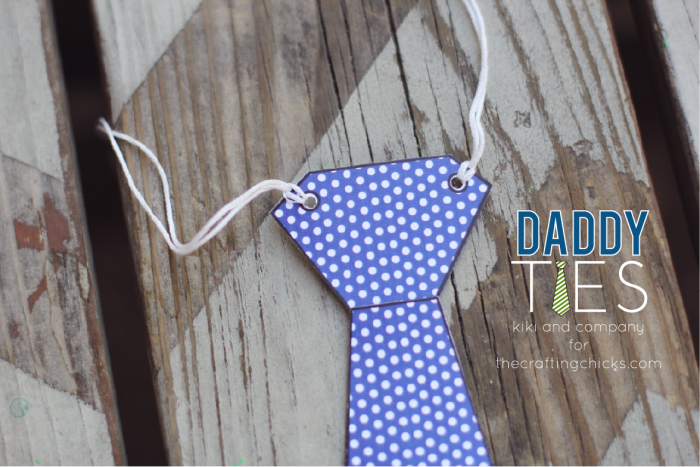 Printable Daddy Ties. Super Easy and fun.