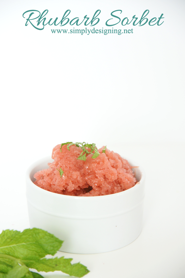 Rhubarb Sorbet | this is so amazingly simple and delicious! you don't ...