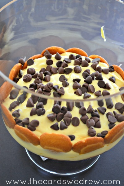 add pudding and chocolate chips