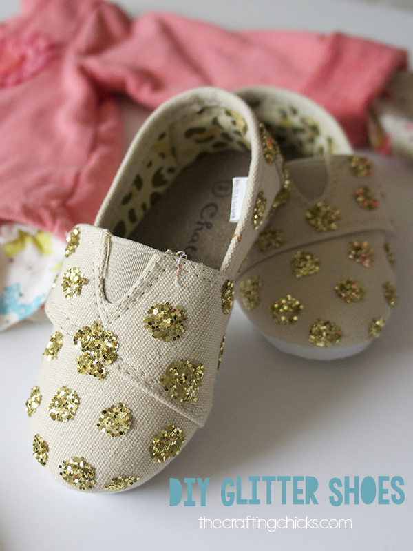 Diy Glitter Shoes The Crafting Chicks