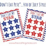 "Don't Eat the Star (4th of July ""Don't Eat Pete"") *Free Printable"