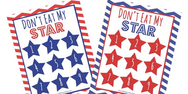 """Don't Eat the Star (4th of July """"Don't Eat Pete"""") *Free Printable"""